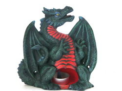 Ceramic dragon t litefor candles or incense