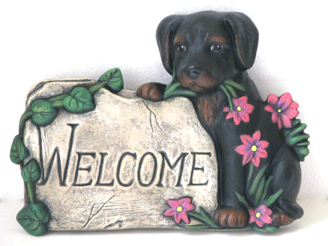 Ceramic Customized Welcome Dog Sign Wendy S Ceramics
