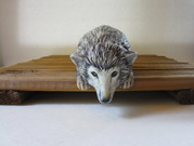 Ceramic shelf sitting hedgehog