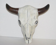 Ceramic painted cow, steer or buffalo steer