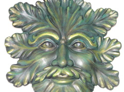 Ceramic greenman wall hanging