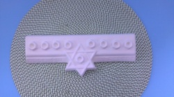 Ceramic unpainted childs menorah