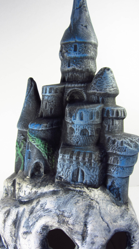 Ceramic Painted Castle on Skull