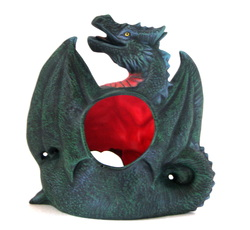 Ceramic dragon t lite for candles or incense