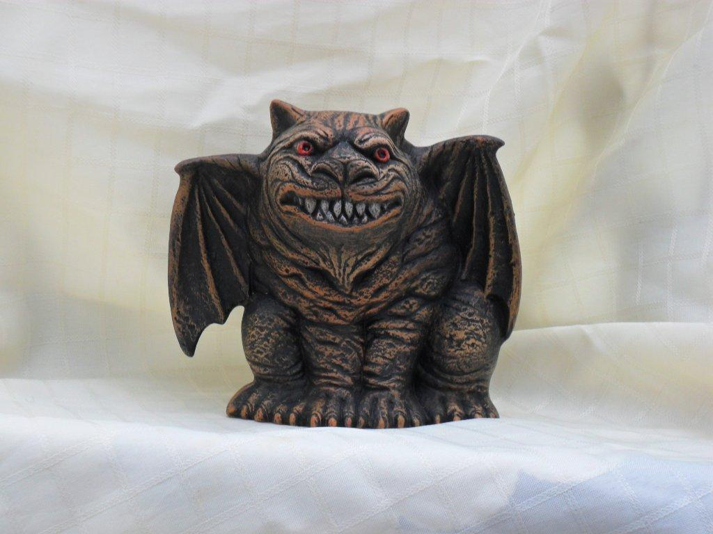 Ceramic Painted Gargoyle
