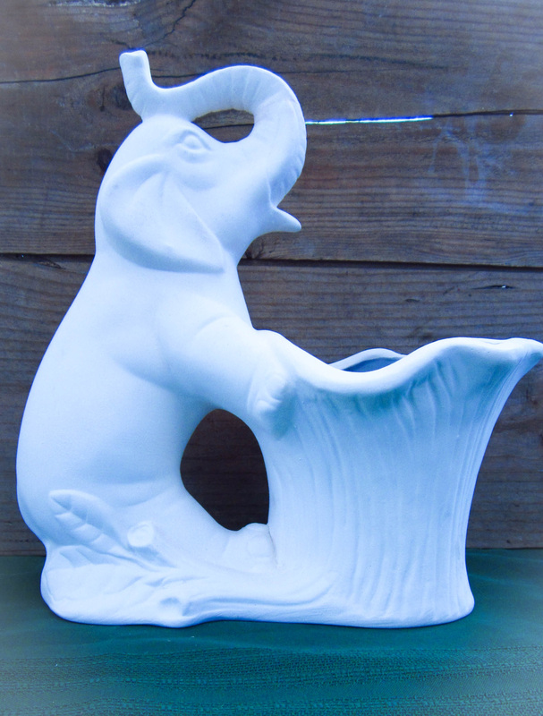 Ceramic Unpainted Elephant Planter Wendy S Ceramics Aar Ceramics