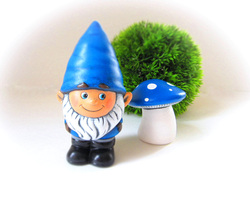 Ceramic Garden Gnome and Toadstool