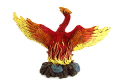 ceramic phoenix reborn from the flames