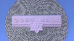Ceramic upainted childs menorah