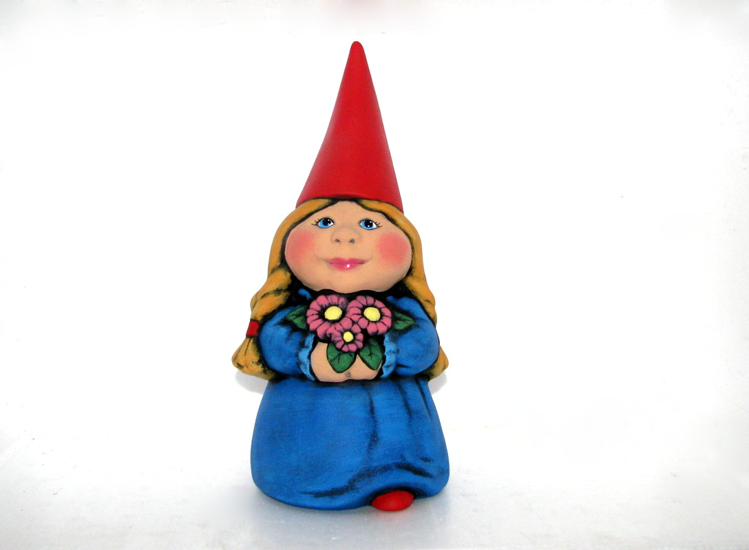Ceramic Painted Female Garden Gnome Wendys Ceramics AAR Ceramics