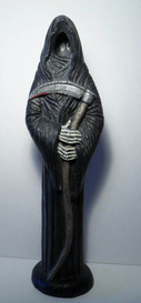 ceramic painted grim reaper